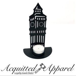 Big Ben Tea Candle Holder Votive Light Small Black